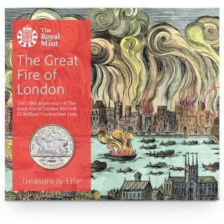 Great Fire of London BU £2 Coin